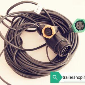 Cablaj electric cu priza 13 PINI si mufa pentru stop
